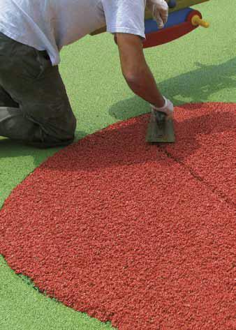 Ecco alcune foto di pavimentazioni in gomma colata: