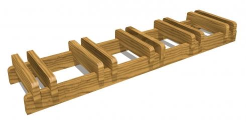 Portabici trento in legno - Portabici in legno ...