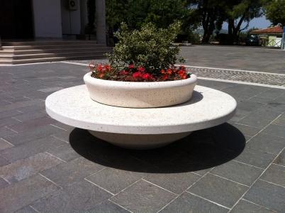 Panchina Rotonda : Arredi in cemento