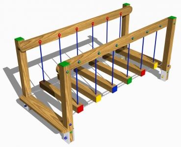 ponte oscillante legno